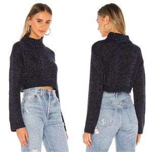 H:ours tinsley metallic crop sweater
